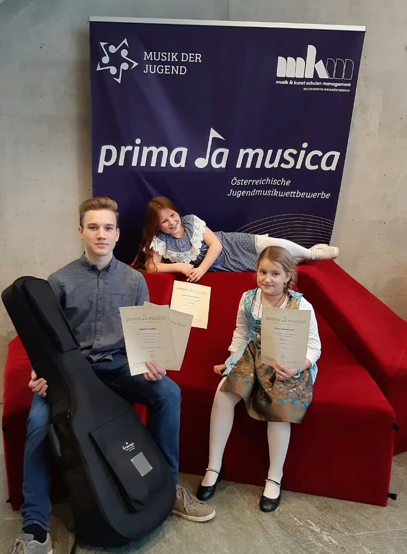Prima la musica: Jakob Schober, Verena Brandstetter und Klara Kühleitner