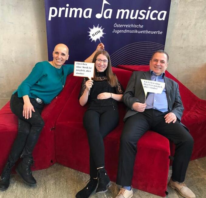 Prima la musica: Eva Oberleitner, Katharina Auinger und Klaus Oberleitner