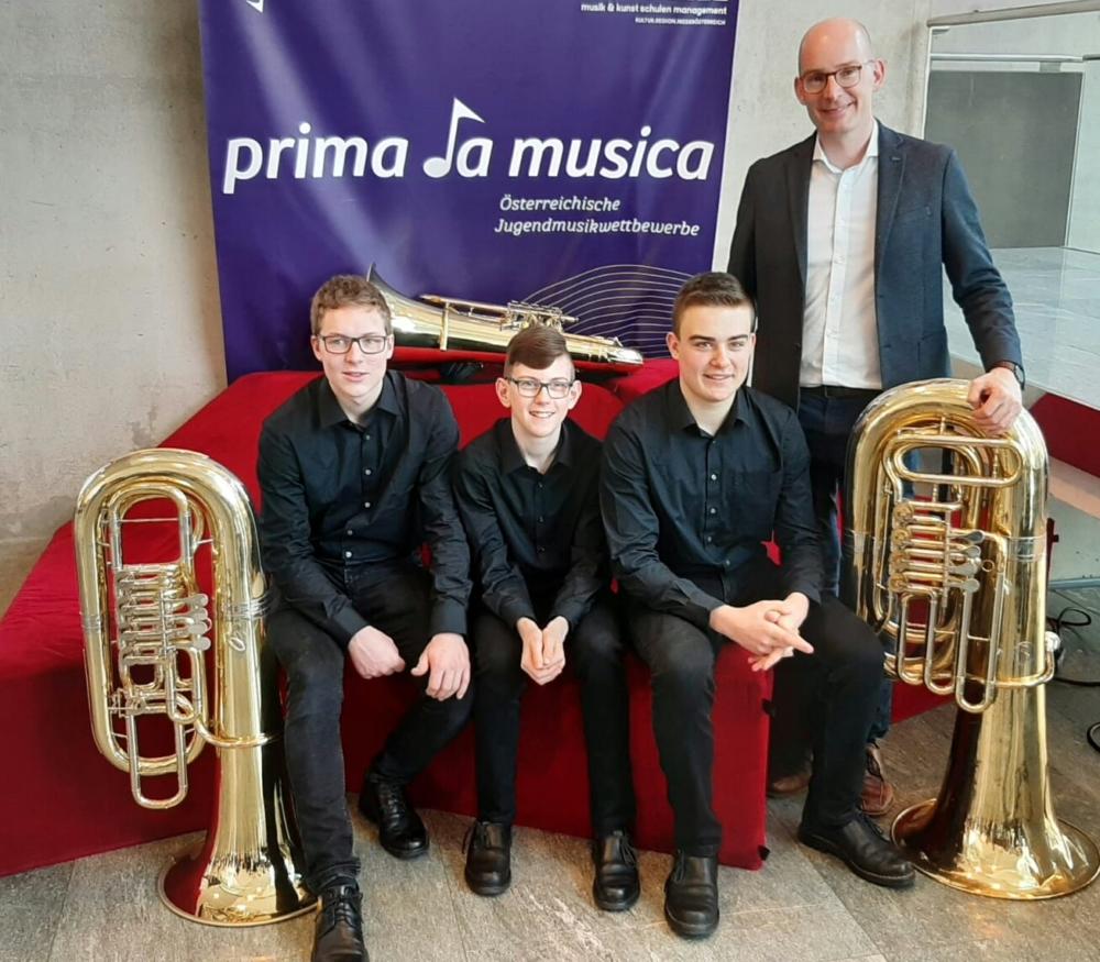 Prima la musica: Tubatriolos mit Sebastian Kaufmann, Nicolas Fichtinger und Manuel Kleeberger
